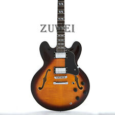 Semi Hollow Body 335 Style Electric Guitar Flamed Maple Veneer