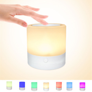 LED Color Changing Night Light Touch Sensitive Dimming Atmosphere Beside Lamp