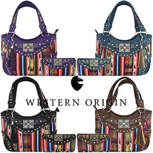 Native Concealed Carry Purse Country Totes Women Handbag Shoulder Bag / Wallet
