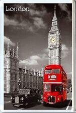 LONDON, BIG BEN, RED BUS FRIDGE MAGNET