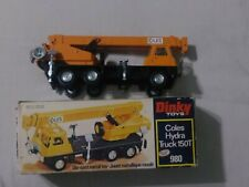Vtg Dinky Toys Meccano COLES HYDRA CRANE TRUCK 150T #980 Diecast W Box Pre Owned