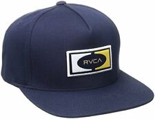 RVCA Breez  Mens Snapback Hat (NEW) Five 5 Panel VA Cap NAVY BLUE Ruca FREE SHIP