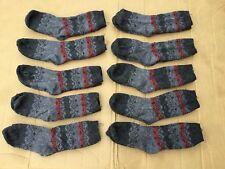 Women's Burlington Merino Wool Blend Socks 10 Pair Size Medium Grey Multi #258R