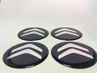 Stickers silicone centre jante moyeu de roue pour CITROEN 4 x 55mm