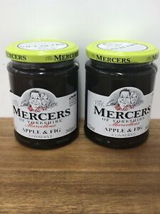 Mercers Of Yorkshire Apple & Fig Conserve 2 Jars / 2 X 340g / Jam / Marmalade
