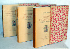 ALBERT SAMAIN WILLIAM FEL édition d'art H. PIAZZA ŒUVRES COMPLÈTES   3 VOLUMES