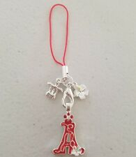 """Letter initial""""A Red""""Hibiscus Flower Cell Phone Charm Mobile PSP Strap Hawaiian"""