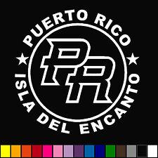 """Puerto Rico """"Isla Del Encanto"""" Decal Car Van Window Funny Bumper Sticker"""