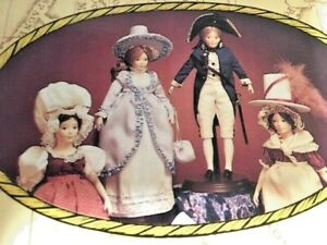 Set of 4 Australian Pioneers Bicentennial Collectable Hillview Lane Dolls