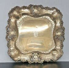 Antique Cowell and Hubbard Co Sterling Silver Platter Tray STUNNING Art Nouveau
