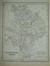 Original Antiquarian Map of Huntingdonshire (1836) Fullarton & R Scott, England