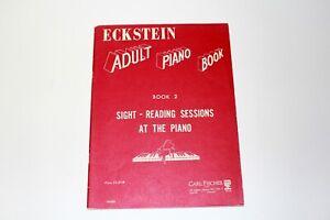 Vintage Sheet Music Book Eckstein Adult Piano Book 2 Carl Fischer 1960