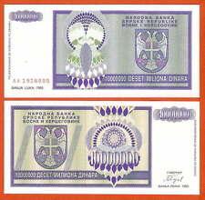 P144   Bosnia Herzegovina  10 Mio  Dinara  1993  UNC