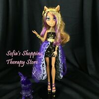 Monster High 13 Wishes Collection CLAWDEEN WOLF Doll Outfit Purple Lantern Lot