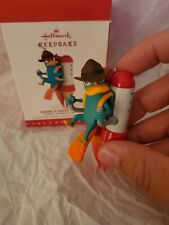 """2015 Hallmark """"Agent P Saves The Day"""" Disney Phineas and Ferb Ornament."""