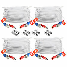 ZOSI 4 PCS 65FT 20M Video Power BNC Cable Wires for CCTV DVR Security Cameras