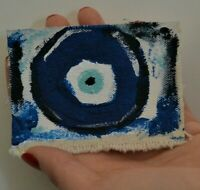 Original ACEO painting/Mataki/superstition/Greek Evil Eye/Superstition/Greek