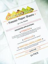 Quiltcraft's Freezer Paper Sheets x 50 - A4 -SIZE BARGAIN