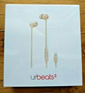 urBeats3 In-Ear Headphones with Lightning Connector - Satin Gold Brand New