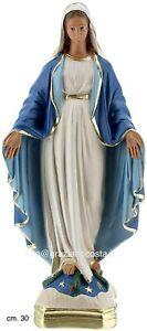 Statua della Madonna Miracolosa Immacolata in gesso cm. 30 ARTIGIANATO ITALIANO
