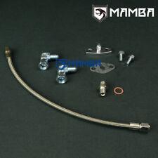 TURBO OIL FEED Line Kit Pour Nissan SR20DET S13 S14 S15 Top Mount Garrett T3 T4