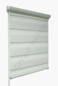 Cream Day and Night Zebra/Vision Window Roller Blind 105cm wide x 150cm drop