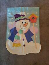 Pastel Colored Snowman House Flag