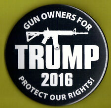 "2016 Donald Trump 3""(Large Size) / Gun Owners Campaign Button(Pin 15L)"