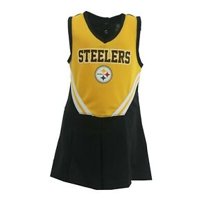 Pittsburgh Steelers NFL Infant Toddler Cheerleader Outfit Combo Set with Bottoms
