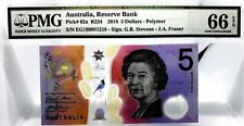 MONEY AUSTRALIA 5 DOLLARS 2016 RESERVE BANK POLYMER GEM UNC