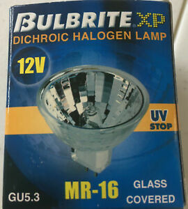 BULBRITE EYC/L 75W 12V FLOOD MR 16 DICHROIC HALOGEN GU5.3 BULB, BRAND NEW IN BOX