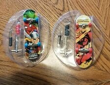 Lot of 2 Tech Deck Spider-man Marvel mini Skateboards with extra wheels & tools