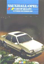 Vauxhall Opel Range Nova Astra Cavalier Manta Carlton Monza Oc-Dec 1986 Brochure