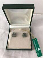 Sterling Silver Post Earrings & Connemara Marble J.C. Walsh, Dublin, Ireland