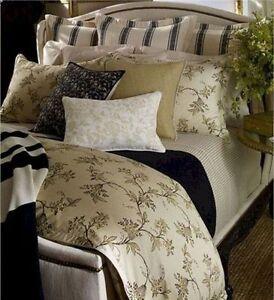 Ralph Lauren Plage D'Or Champagne Floral Full/Queen Comforter Set 4pc