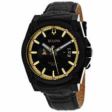Bulova Men's Grammy Edition 46mm Crocodile Leather Band Quartz Watch 98B293