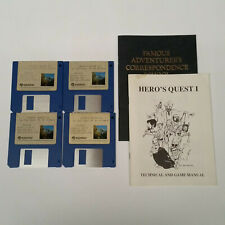 """Hero Quest I 1 So You Want to Be a Hero MS-DOS 3.5"""" Floppy with Manual"""