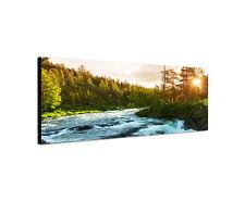 150x50cm Gebirgsfluss Norwegen Panorama Skandinavien Natur Wandbild Sinus Art