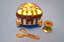 Sewing Box with Legs, authentic French Limoges Box ( New )