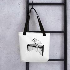 Tote bag 14oz Recycled Hackney Tote Printed with Cats Natural