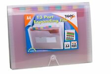 A4 Expanding 13 Part Expanding File Folder Stud Wallet Case Tabbed Organiser