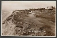 Postcard Milford on Sea nr Lymington New Forest Hampshire 1951 The Cliffs RP