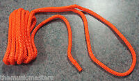"(1) Orange Double Braided 1/2"" x 15' ft Boat Marine HQ Dock Line Mooring Rope"