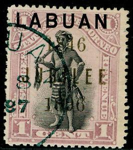 NORTH BORNEO - Labuan SG83, 1c black & grey-mauve, FINE USED, CDS. Cat £23.