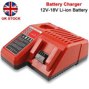 12-18V Rapid Charger M12-18C Fit For Milwaukee M12 M18 48-11-1850 Li-ion Battery
