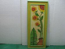 Lotto 16 - QUADRO con pittura in rilievo olio su legno 30x75x  esemplare unico