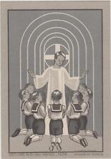 IMAGE PIEUSE-HOLY CARD SANTINI/7 petits communiants Costume Marin/MH. FAFOURNOUX