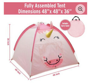 Children / Toddlers / Pets Pink Unicorn Portable Pop Up Play Tent & Storage Bag