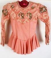 Little Girls Dance Ballet Skate Dress Leotard Costume Sequins Rhinestones Size S