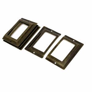 Post Office Fichier Étiquette En Métal Tiroir Porte Étiquette Bronze 5Pcs